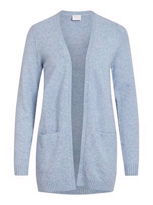 VILA ViRil L/S Open Knit Cardigan - Noos - Ashley Blue