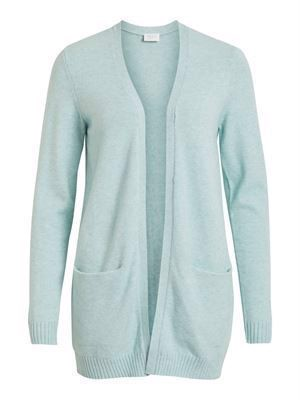 VILA Viril L/S Open Knit Cardigan - Noos - Blue Haze