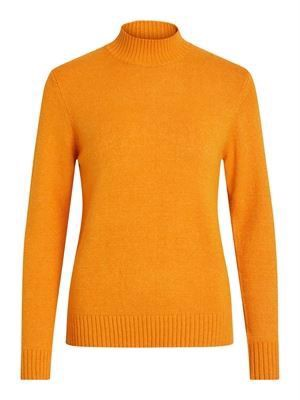 VILA Viril L/S Turtleneck Knit Top Noos Golden Oak