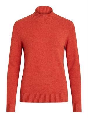 VILA ViRil L/S Turtleneck Knit Top Noos Ketchup