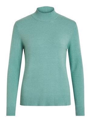 VILA ViRil L/S Turtleneck Knit Top Noos Oil Blue