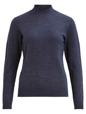 VILA Viril L/S Turtleneck Knit Total Eclipse Melange