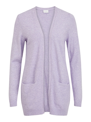 VILA ViRil Open L/S Knit Cardigan Lavender