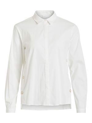 VILA ViWhite L/S Button Shirt Snow White