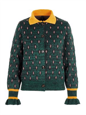 YAS Lin LS Cardigan Evergreen