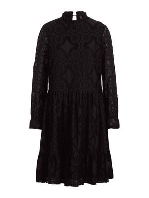 YAS Luna LS Lace Dress Black