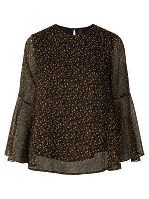 Y.A.S. Peque 3/4 Top Black/Peque Print